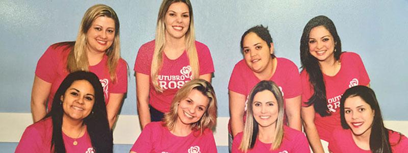 Equipe de atendimento da UROMED participa do Outubro Rosa