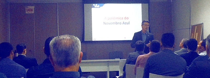 Dr. Aguinel Bastian palestra sobre o Novembro Azul na Unicred